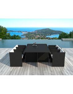 x8 fauteuils + tables jardin DELORM BLACK - par Delorm