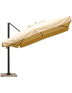 Parasol DELORM Sable déporté avec Volets 3X3M - par Delorm