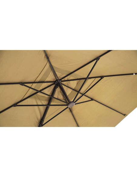 Parasol DELORM Sable déporté 3X3M - par Delorm