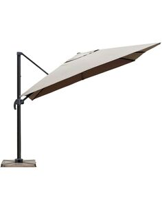 Parasol DELORM Taupe déporté 3X3M - par Delorm