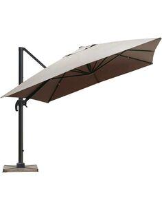 Parasol DELORM Taupe déporté 3X4M - par Delorm