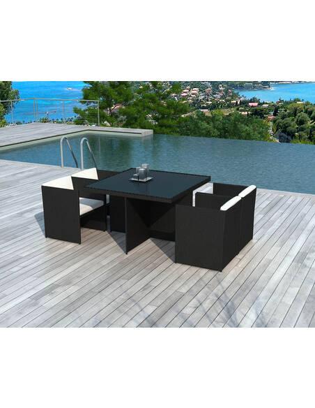 x4 fauteuils + table de Jardin DELORM - par Delorm