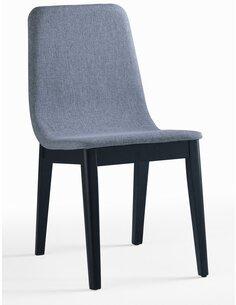 x2 Chaises CITY FELICIO tissu et bois d'intérieur - par Delorm