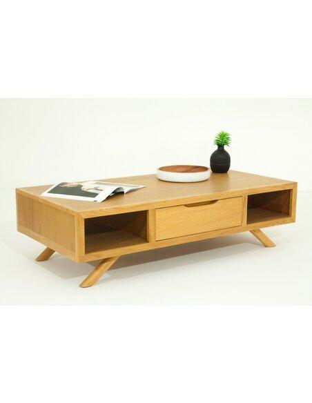 Table Basse ETN FIFTEES Teck Massif - par Delorm