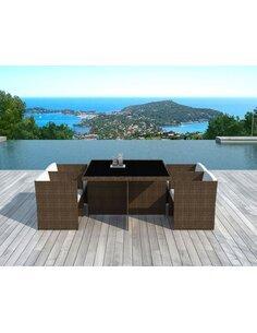 x4 fauteuils + table de Jardin - par Delorm