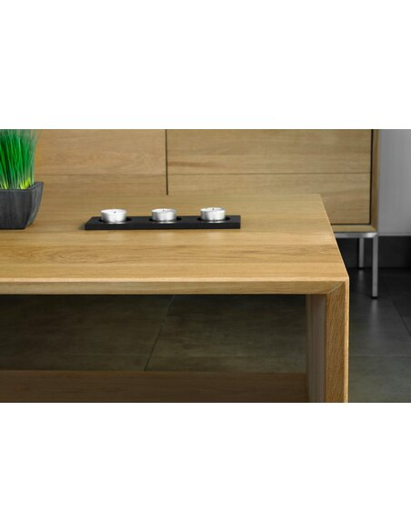 Table Basse CUTE KUBICO chêne massif - par Delorm