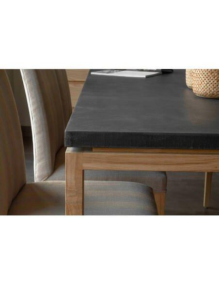 Table CUTE ULEG chêne massif Minéral - par Delorm