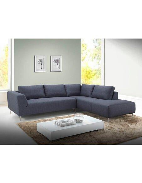 Canapé d'angle MOON CHABLIS tissu angle Droit - par Delorm