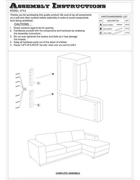 Canapé d'angle ROAD MEBNDE tissu angle Droit - par Delorm
