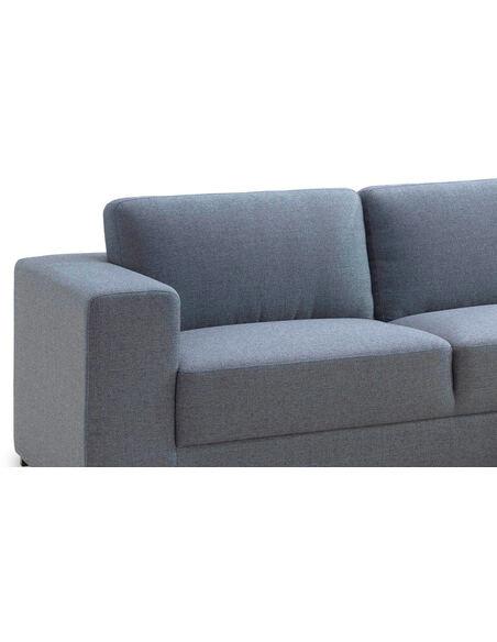 Canapé d'angle ROAD CITY tissu angle Droit - par Delorm