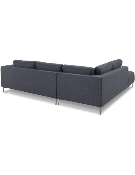 Canapé d'angle MOON CHABLIS tissu angle Gauche - par Delorm