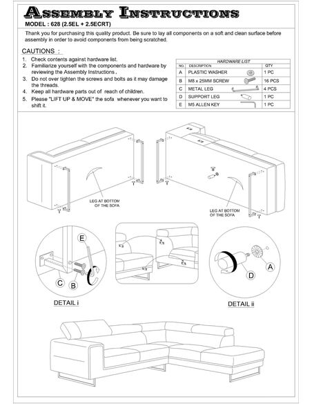 Canapé d'angle STREET CITY tissu angle Gauche - par Delorm