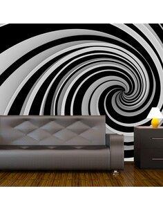 Papier peint BLACK AND WHITE SWIRL - par Artgeist