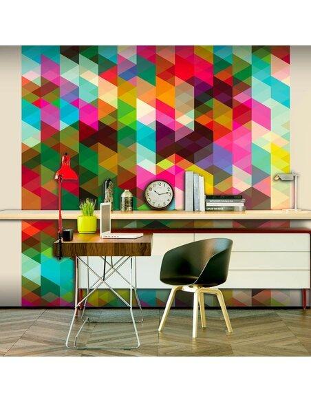 Papier peint COLOURFUL GEOMETRY - par Artgeist