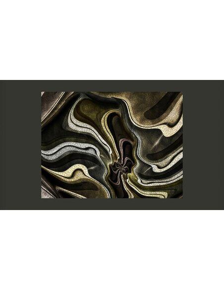 Papier peint GREEN AND BROWN TEXTURED FRACTAL - par Artgeist