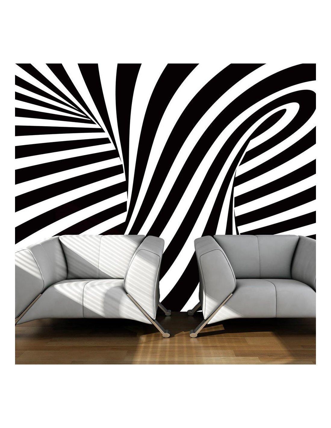 papier peint art optique noir et blanc 89 90 chez recollection. Black Bedroom Furniture Sets. Home Design Ideas