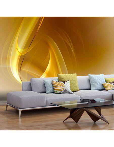 Papier peint GOLD FRACTAL BACKGROUND - par Artgeist
