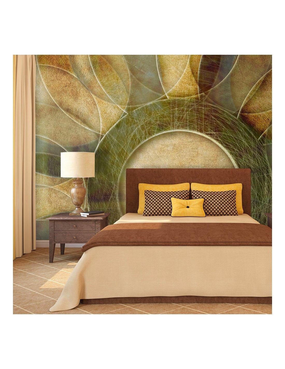 papier peint fleur r tro artgeist. Black Bedroom Furniture Sets. Home Design Ideas