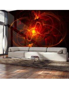 Papier Peint Abstract Fire  Moderne Artgeist