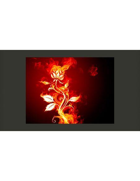 Papier peint ROSE EN FLAMMES - par Artgeist