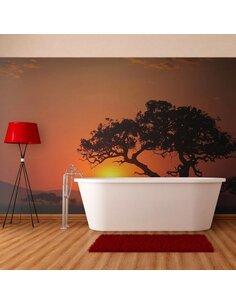 Papier peint AFRIQUE: COUCHER DE SOLEIL - par Artgeist