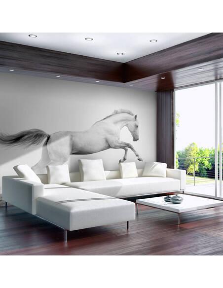 Papier peint WHITE GALLOP - par Artgeist