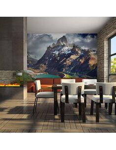 Papier peint MOUNTAIN LANDSCAPE WITH LAKE - par Artgeist