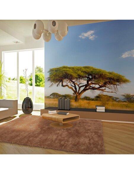 Papier peint FLORE AFRICAINE EN DÉBUT DE MATINÉE - par Artgeist