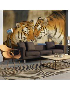 Papier peint TIGRES : L'AMOUR INCONDITIONNEL - par Artgeist