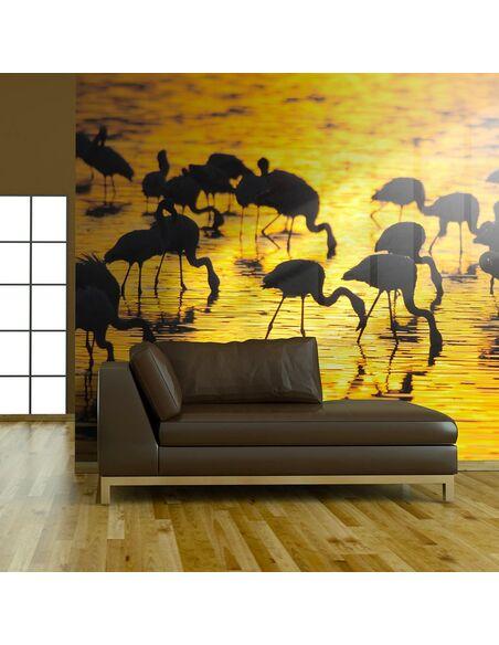 Papier peint PARADIS DES FLAMANTS : LAC NAKURU, KENYA - par Artgeist