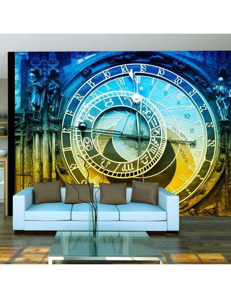 Papier peint HORLOGE ASTRONOMIQUE DE PRAGUE - par Artgeist