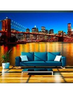 Papier peint PONT DE BROOKLYN AU CRÉPUSCULE NEW YORK - par Artgeist