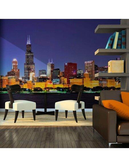 Papier peint VIE NOCTURNE À CHICAGO - par Artgeist