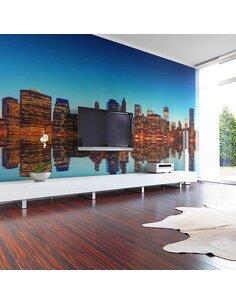 Papier peint SKYLINE OF NEW YORK FROM THE WATER - par Artgeist
