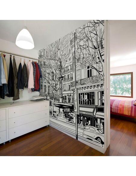 Papier peint SKETCH OF PARISIAN FOUNTAIN - par Artgeist