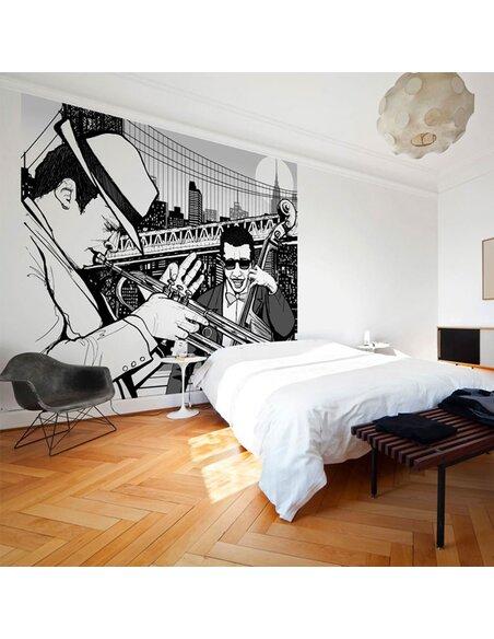 Papier peint NEW YORK, MUSIQUE, JAZZ... - par Artgeist