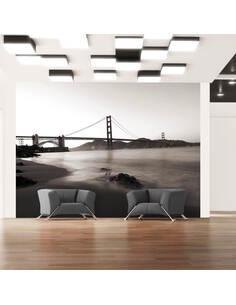 Papier peint SAN FRANCISCO : GOLDEN GATE EN N&B - par Artgeist