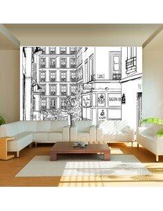 Papier peint A WALK THROUGH PARISIAN STREETS - par Artgeist
