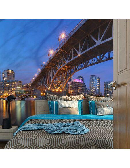 Papier peint GRANVILLE BRIDGE VANCOUVER CANADA - par Artgeist