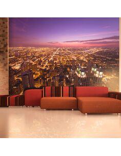Papier peint CHICAGO AMBIANCE DE NUIT - par Artgeist