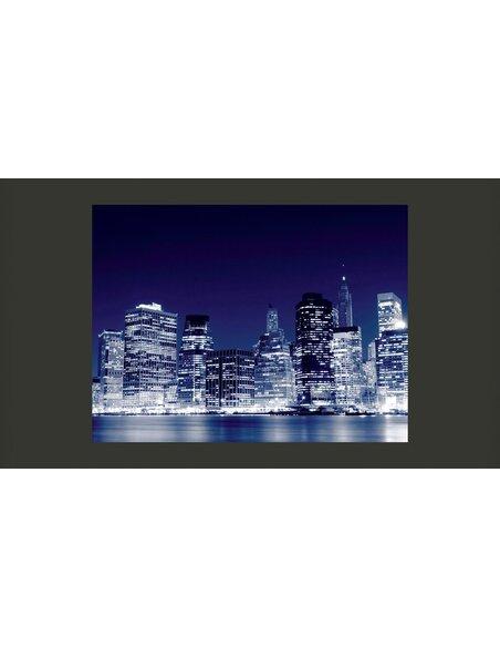 Papier peint PANORAMA DE MANHATTAN LA NUIT, NEW YORK CITY - par Artgeist