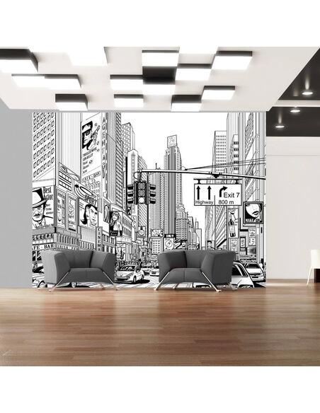 Papier peint DANS LES RUES DE NEW YORK - par Artgeist