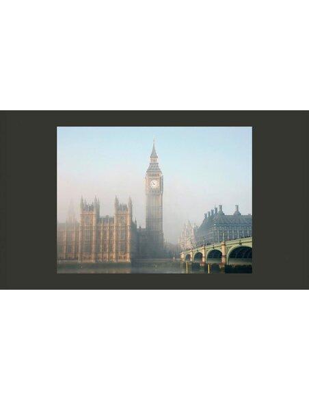 Papier peint PALAIS DE WESTMINSTER DANS LE BROUILLARD, LONDRES - par Artgeist