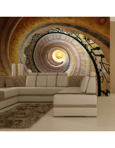 Papier peint DECORATIVE SPIRAL STAIRS - par Artgeist
