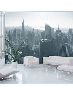 Papier peint PANORAMA DE NEW YORK EN N&B - par Artgeist