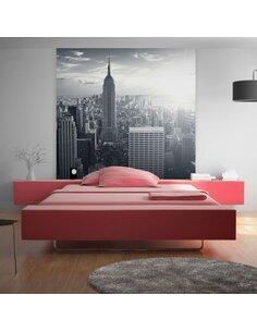 Papier peint MANHATTAN NEW-YORKAIS AU LEVER DE SOLEIL - par Artgeist