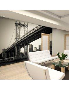 Papier peint PONT DE MANHATTAN, NEW YORK - par Artgeist