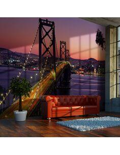 Papier peint CHARMING EVENING IN SAN FRANCISCO - par Artgeist