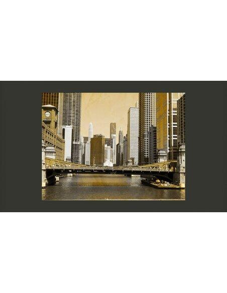 Papier peint CHICAGO'S BRIDGE VINTAGE - par Artgeist