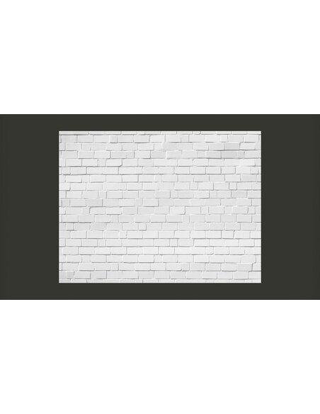 papier peint brique blanche air r tro 89 90 chez recollection. Black Bedroom Furniture Sets. Home Design Ideas